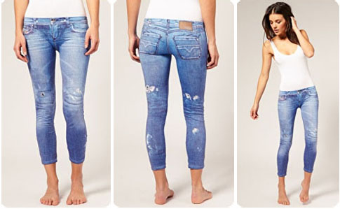 Legging imprimé jean Diesel