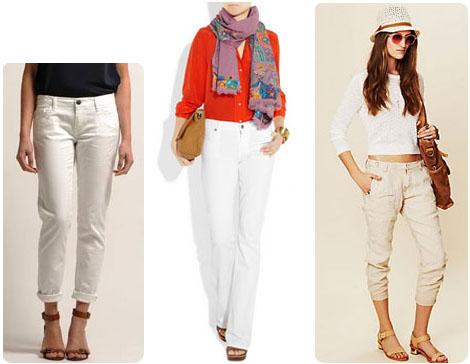 Jeans blancs printemps 2012