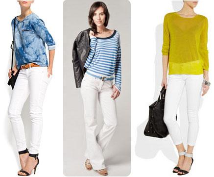 Jeans blancs