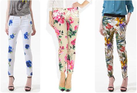 Pantalons fleuris printemps 2012