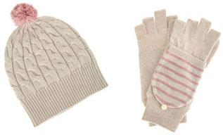 Bonnet et moufles en laine M.Patmos