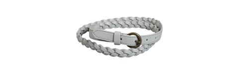 ceinture fine tressée gris perle