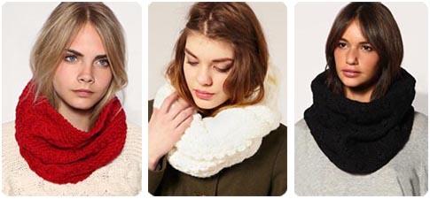 ... d u0027hiver Femmes en tricot 2 Cercles. foulard rond femme. Echarpe  tube bde2aea6e17