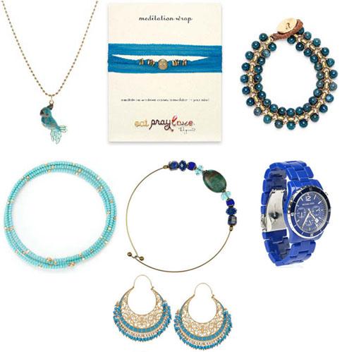Des bijoux en bleu pour le printemps