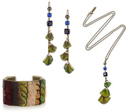 Bijoux à plumes Isabel Marant