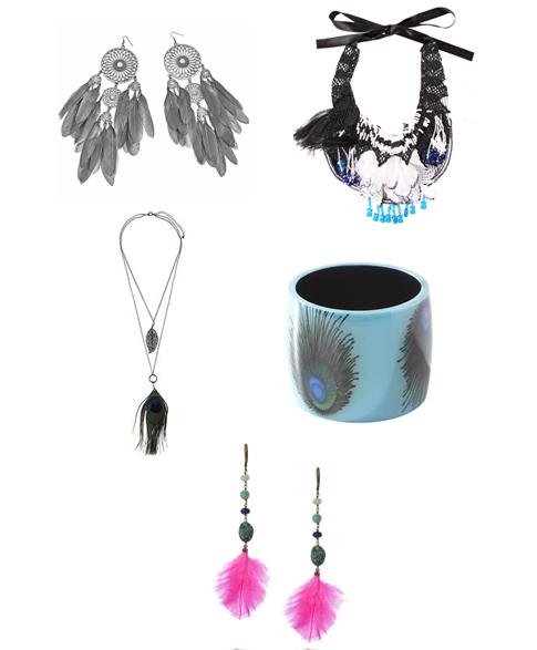 tendance bijoux plumes