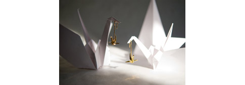 Cygnes bijoux en origami