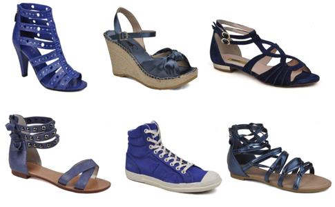 tendance chaussures bleues