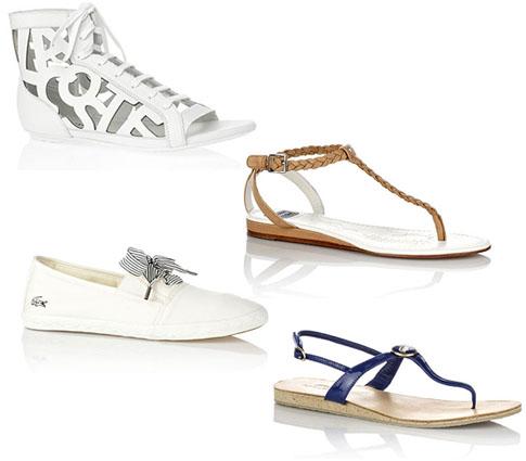 Chaussures chic Lacoste, collection printemps-été 2011