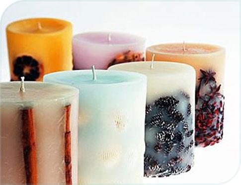 Bougies parfumée rondes