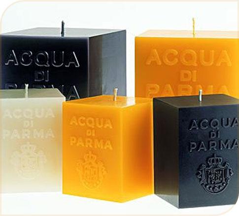Bougies parfumées carrées