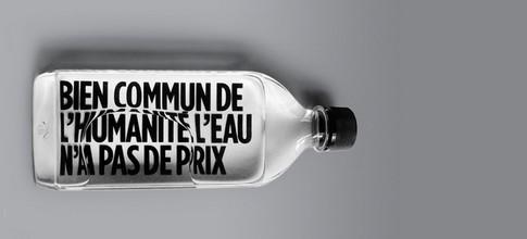 bouteille fueille d'eau