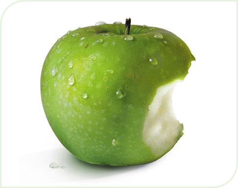 La belle pomme à croquer !