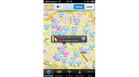 application Yuback pour Iphone