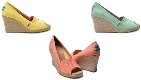 Espadrilles compensées Toms Shoes