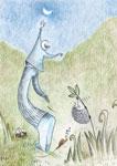 la lune pour rêver, poésie pour enfant