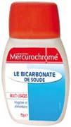 Bicarbonate de soude Mercurochrome