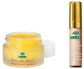 Soins lèvres Nuxe : Baume Rêve de Miel et Baume Prodigieux