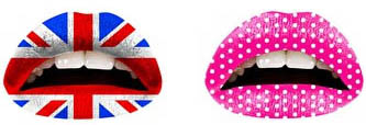Tatouages éphémères lèvres