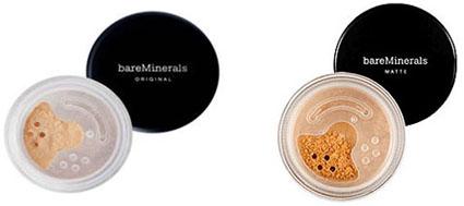 Fonds de teint minéraux bareMinerals, Bare Escentuals