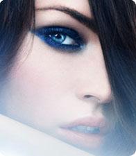 Ombres à paupières bleues, image Armani Beauté