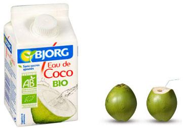 Eau de coco bio Bjorg