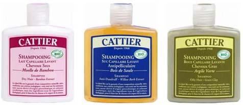 Shampoings bio Cattier