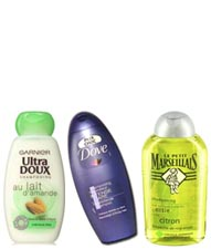 Bons shampoings pas chers de grande surface