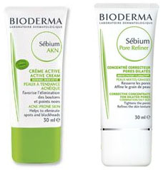 Crème Active et Sébium Pore Refiner, Bioderma
