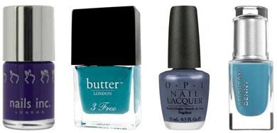 Vernis à ongles bleus