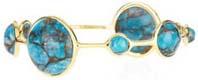 Bracelet or et turquoises, Ippolita