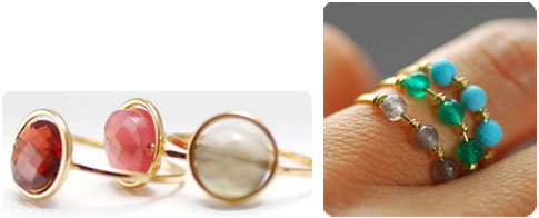 Bagues or et pierres fines Paola Zovar
