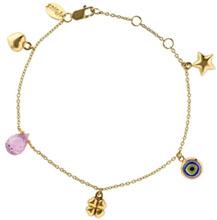 Bracelet en or avec charms, Y Eyes