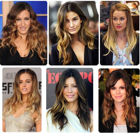 Coiffure ombr la jeunesse cheveux ombre noir au blond longueur moyenne ombre braid pigtails - Tie and dye cheveux boucles ...