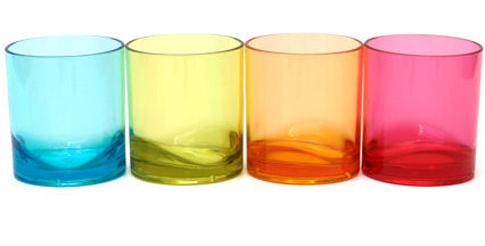 verres colorés Le Grand Comptoir
