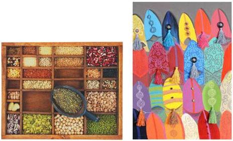 D coration une touche ethnique pleine de couleurs le - Tableau cuisine maison du monde ...