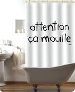 Rideau de douche et photo site Atylia