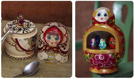 Poupées Matriochkas peintes à la main