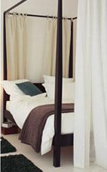 rideaux pour lit à baldaquin