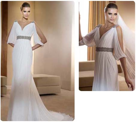 Robe de mariée drapée Famosa