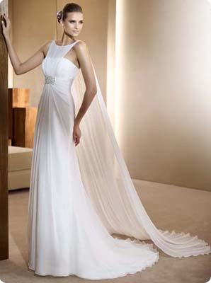 Robe blanche avec de la dentelle 6
