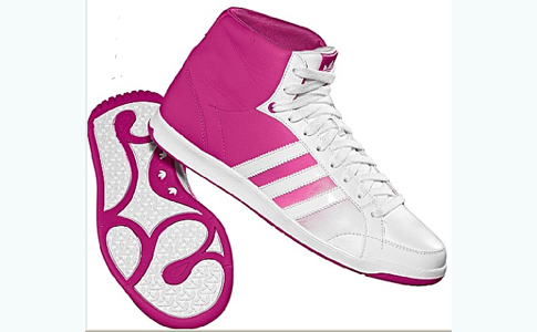 baskets adidas roses pour femme