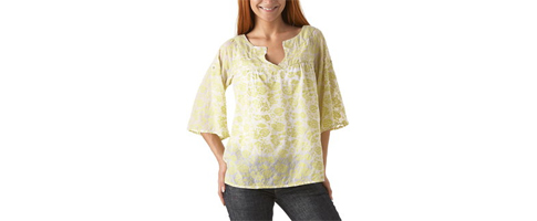 blouse jaune