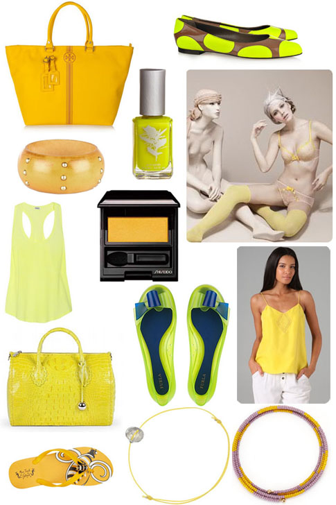 tendance été 2011, le jaune