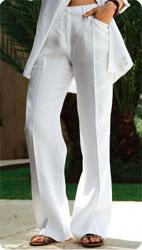 Ensemble veste pantalon lin femme