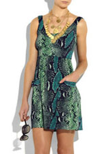Robe imprimée python Diane Von Furstenberg
