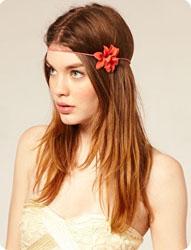 Bandeau cheveux à fleurs