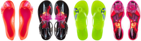 Sandales caoutchouc fluo Furla