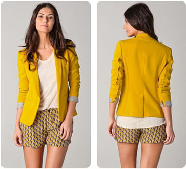 Veste jaune curry Rag & Bone