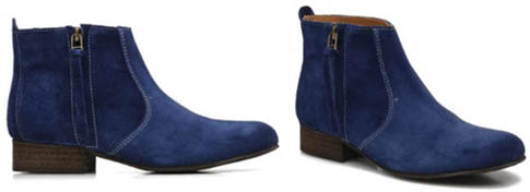 Bottines bleues Addict Initial
